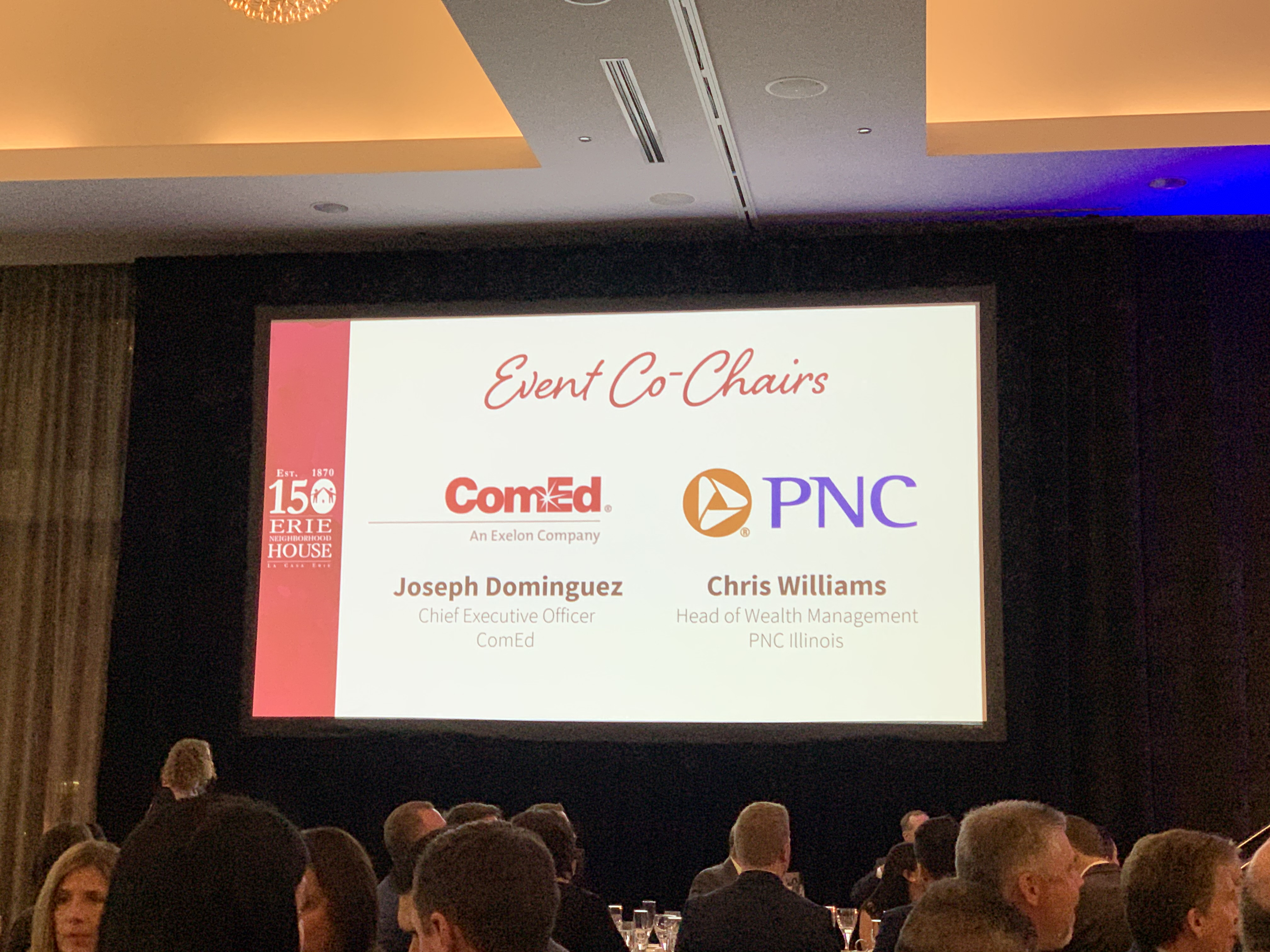 Event co-chairs were ComEd CEO Joe Dominguez and PNC Illinois Head of Wealth Management Chris Williams