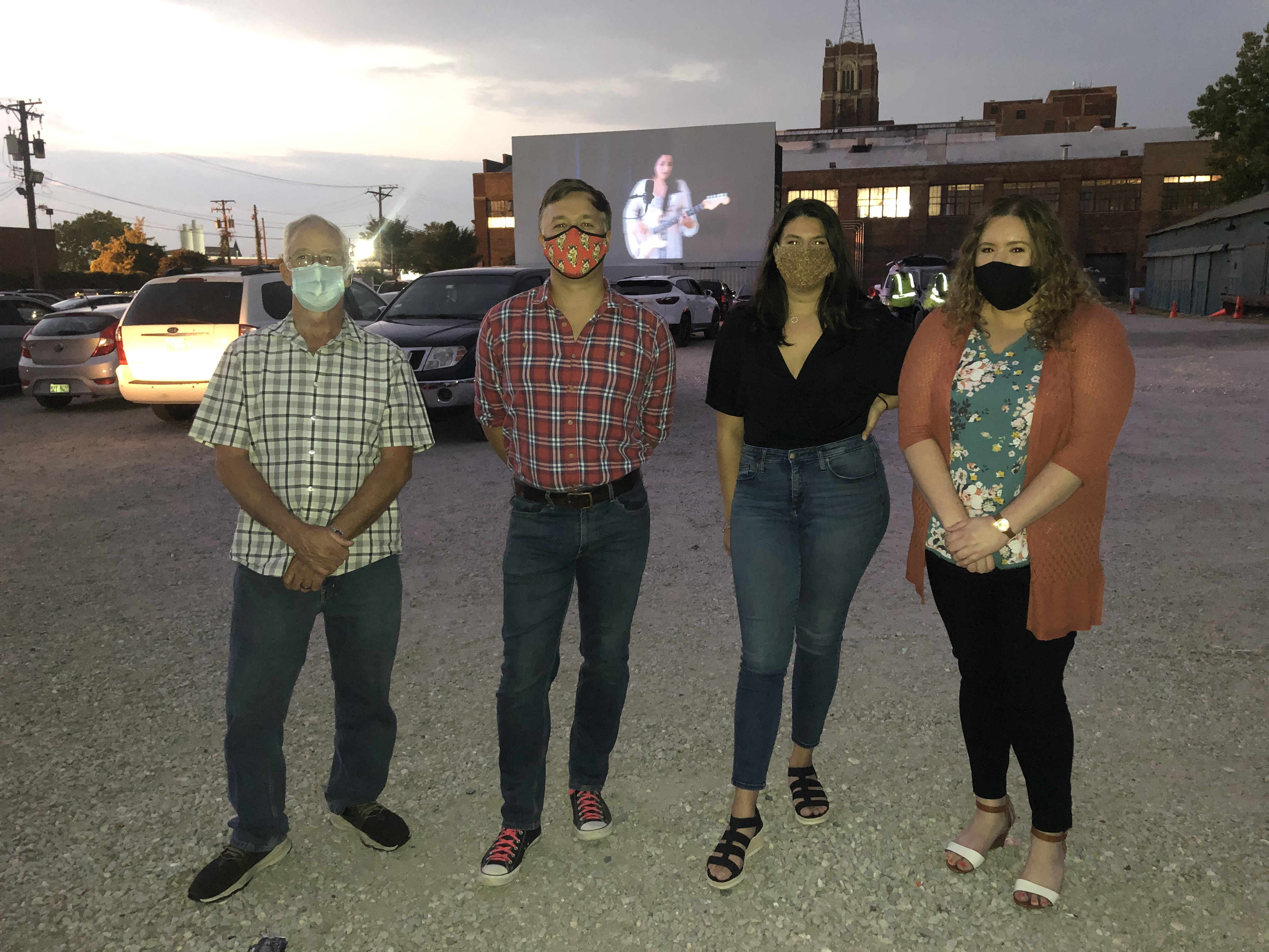 HBK attendees wear masks for socially distanced gala