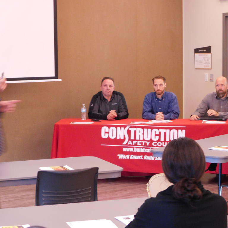 Panelists for Drone Safety in Construction program