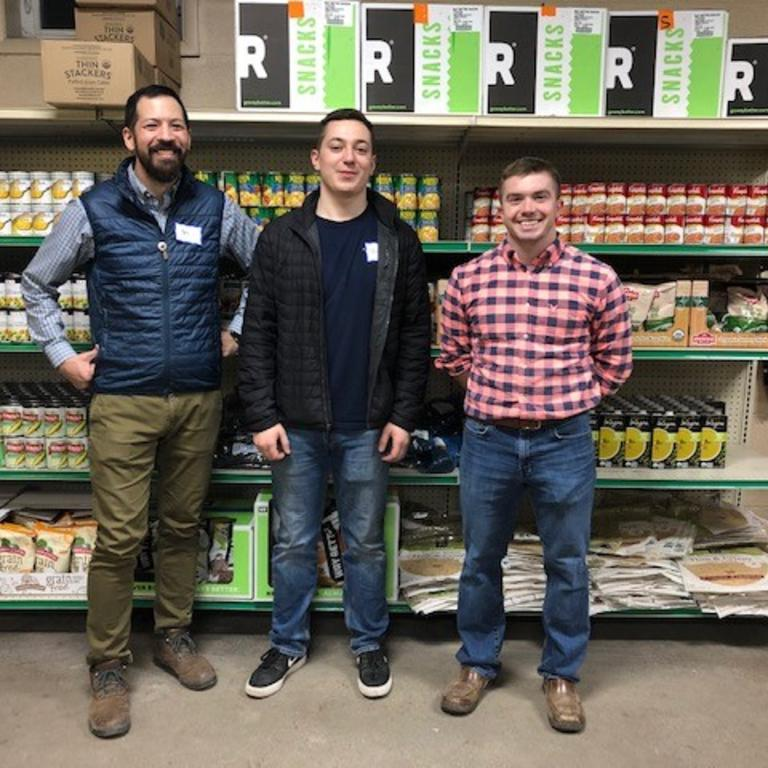 HBK volunteers support the food pantry