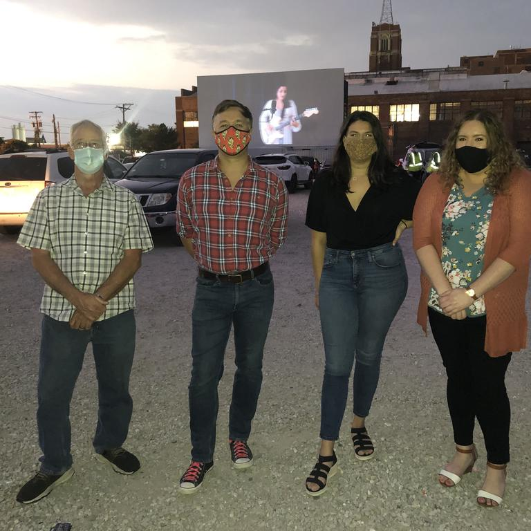 HBK attendees wear masks to attend socially distanced event