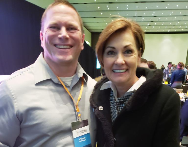 Heath Lyle with Governor Reynolds